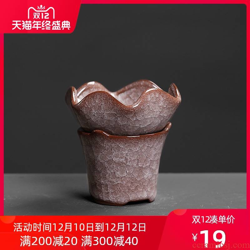 ) tea filter time tea sets accessories filter holder base creative move lime points of tea ware ceramic insulation
