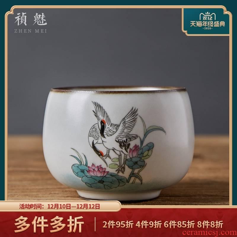 Shot incarnate your up hand - made open piece of kung fu tea master of jingdezhen ceramic tea set sample tea cup cup personal single CPU
