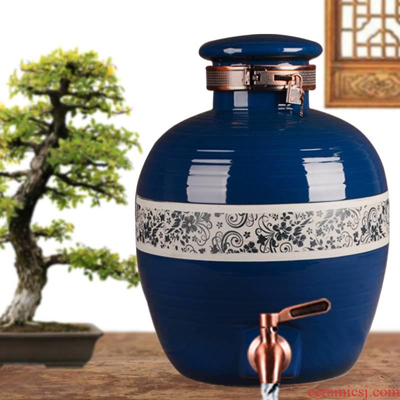 Jingdezhen ceramic jars big it mercifully jars with leading 20 jins 30 jin wine bottle sealed jars