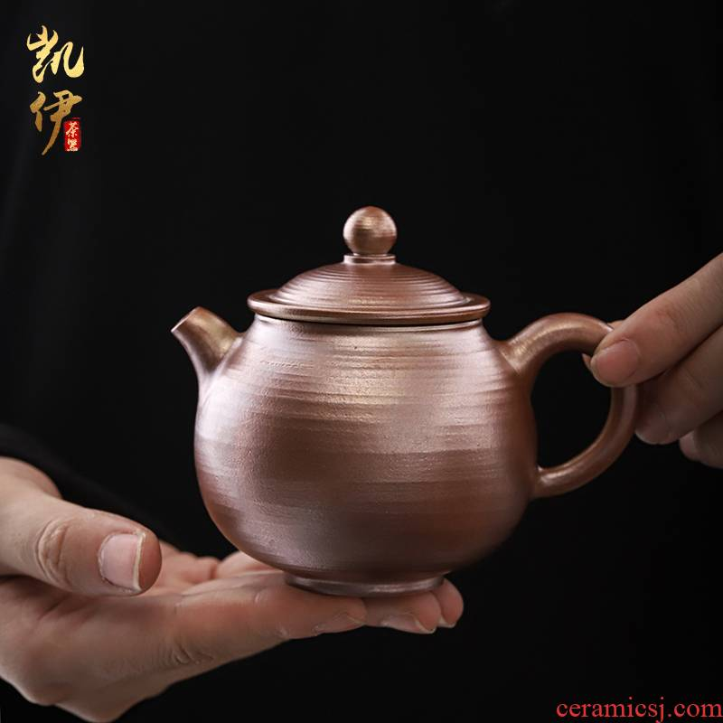He Zhi, ferial type manual firewood teapot coarse TaoDeZhong pot of restoring ancient ways of household kung fu tea set ceramic filter single pot