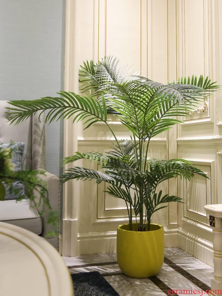 Jingdezhen ins Nordic simulation, the plants potted olive landing big plant home office window decoration