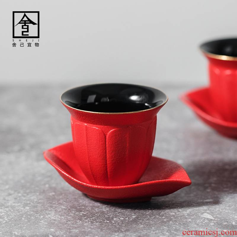 """The Self - """"appropriate material sample tea cup kung fu tea cup pure color contracted Japanese jingdezhen ceramic cups single CPU"""