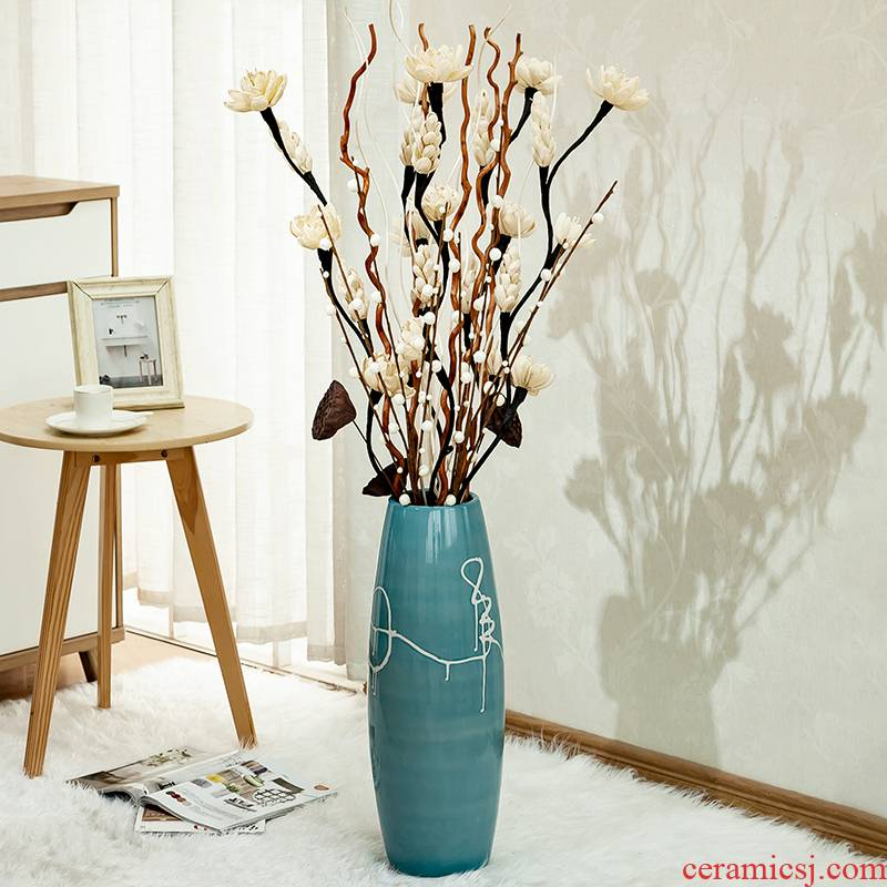 Ground vase large vases, I and contracted sitting room artical dry flower arranging flowers tall ceramic decorative furnishing articles