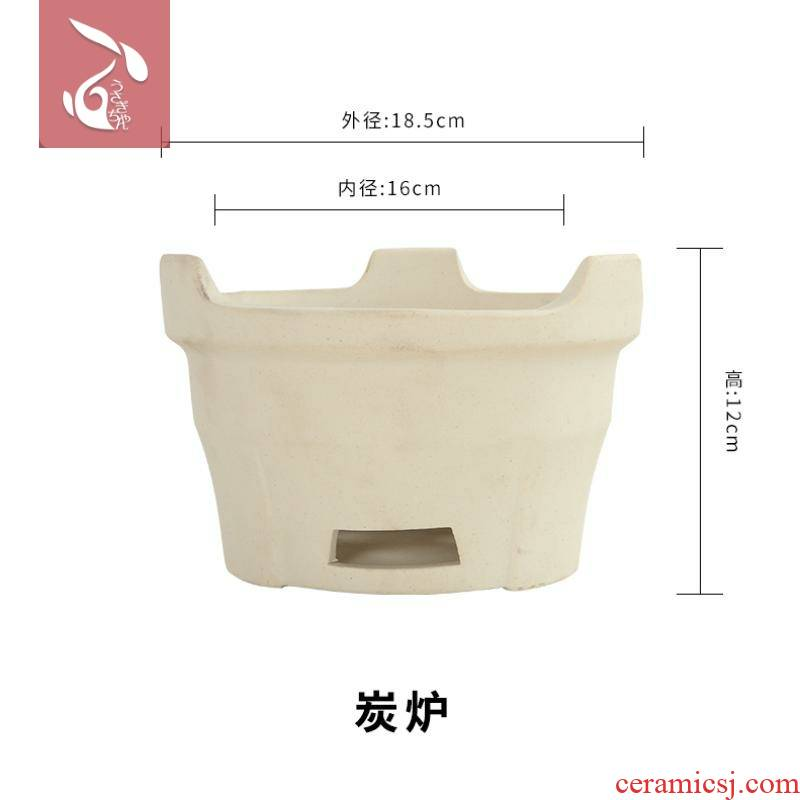 Old Japanese mini stove earthenware clay furnace oven domestic carbon roast barbecue furnace hibachis ceramic charcoal