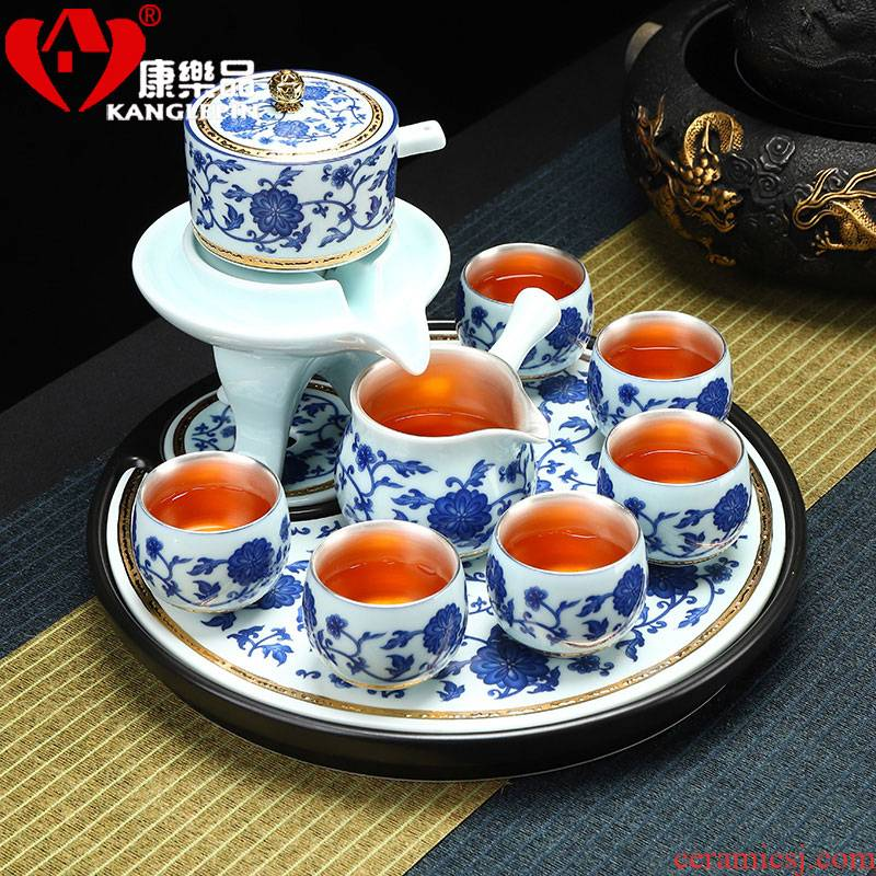 Recreational product jingdezhen porcelain paint coppering. As silver home office kung fu tea cups of a complete set of automatic tea set lazy woman