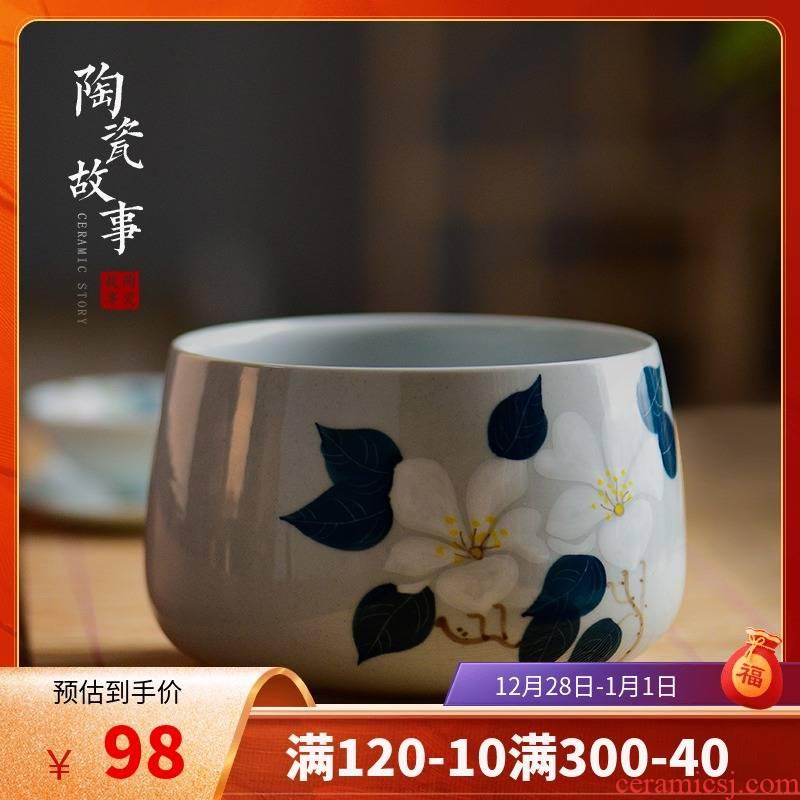 Members of the tea wash to the domestic tea taking built water ceramic tea heavy sea Japanese zen large hand wash water jar