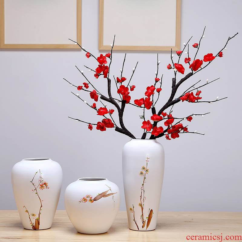 Ceramic vase continental simulation dried flower flower arranging place to live in the living room TV cabinet decoration simple porch decoration