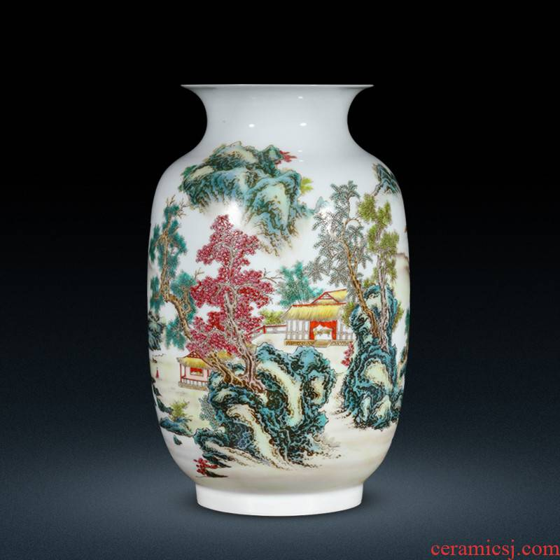 Jingdezhen ceramic Chinese vase sitting room adornment is placed household TV ark, flower arranging porcelain decoration process