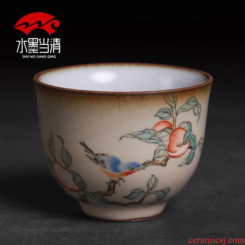 Ru up market metrix who cup single CPU slicing can be 2 support a family ceramic cups and move of jingdezhen checking tea lamp that men and women