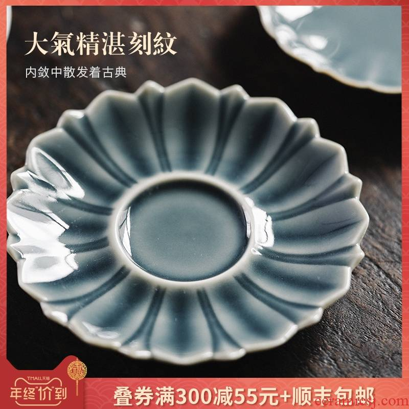 Mat pot bearing jingdezhen manual temperature shadow green ceramic tea set dry pan ji the qing tureen doesn dry pot mercifully