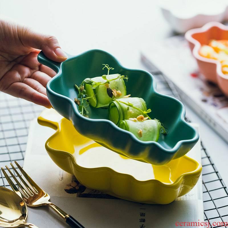 Ceramic, lovely creative northern dim sum for breakfast bowl bowl pan bake bowls of sweet fruit tableware children