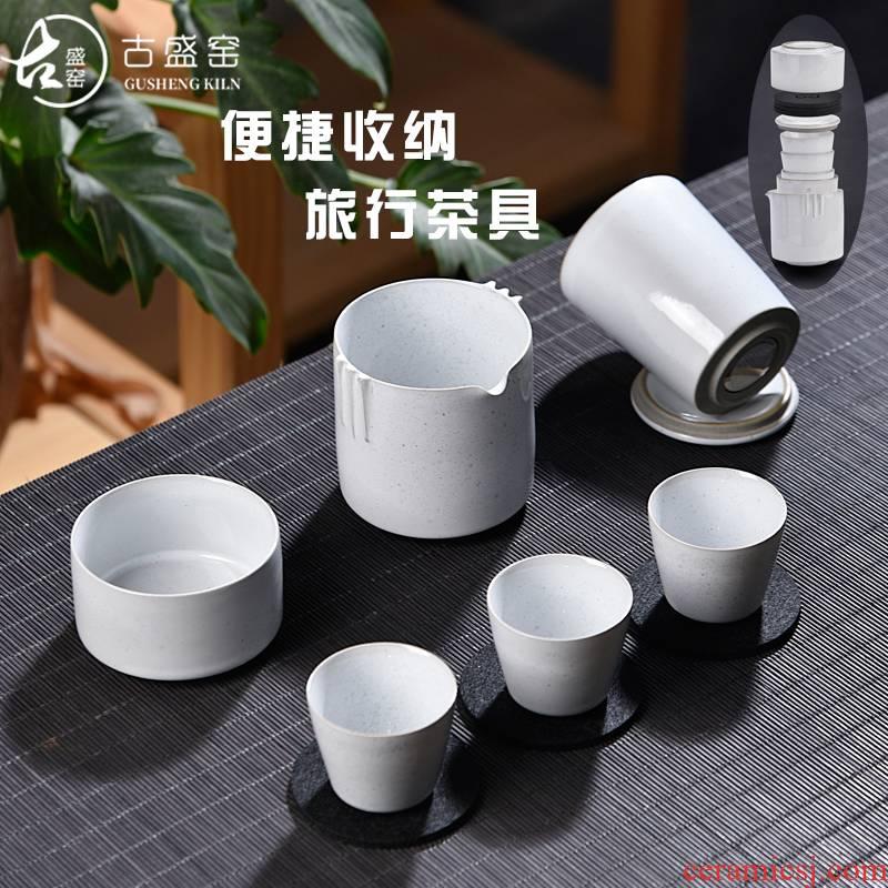 Ancient sheng up portable travel kung fu tea set ceramic glass crack a pot of three is suing the car make tea