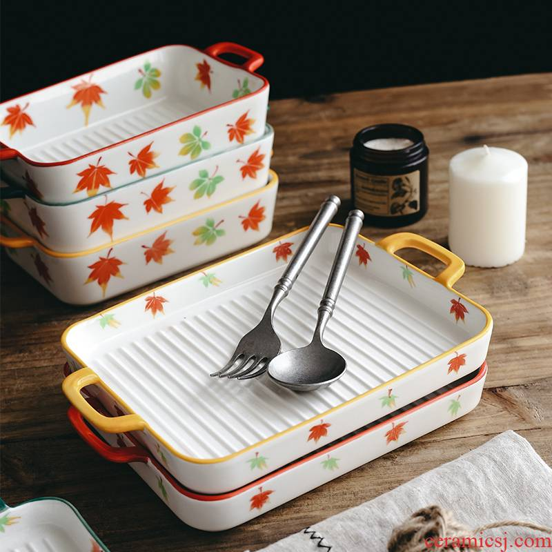 Pan specialized household ceramics microwave oven baked cheese baked bread and butter dish dish dish creative western tableware