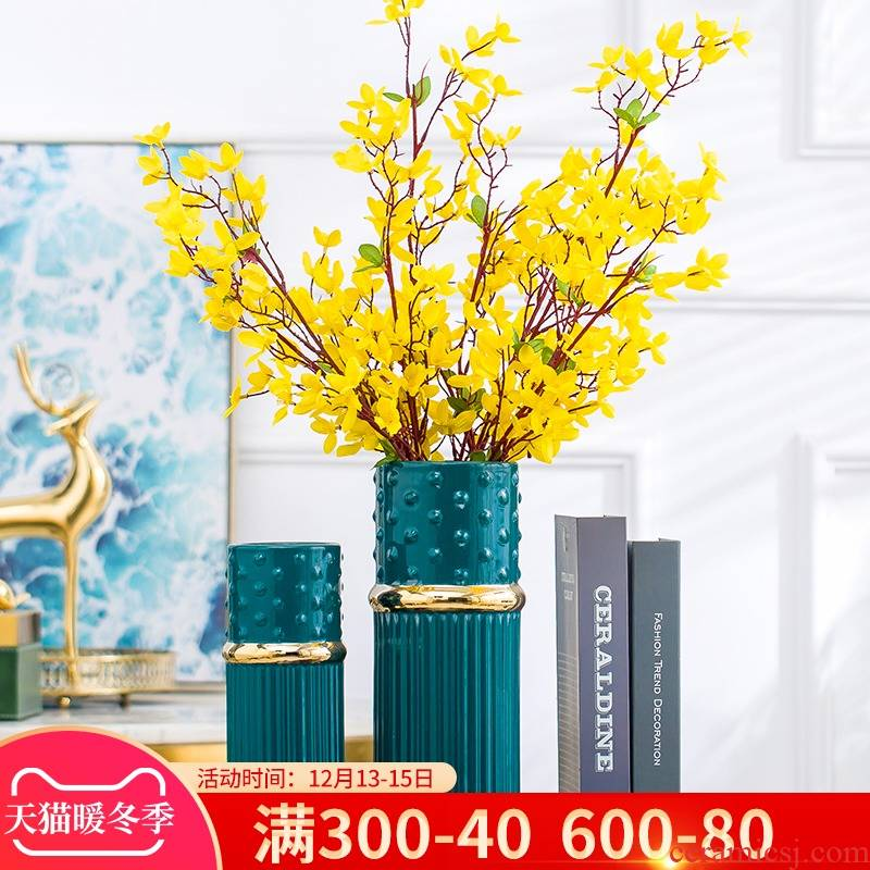Nordic light key-2 luxury furnishing articles of modern ceramic vase sitting room is contracted creative home TV ark, flower arrangement table decorations