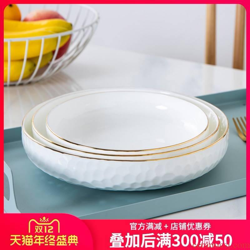 Up Phnom penh ipads porcelain dishes son home deep dish creative ceramic disc web celebrity tableware disc dumplings plate cold dish dish soup plate