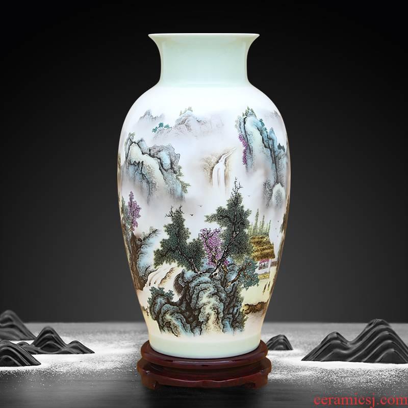 To ceramics green famille rose porcelain vase