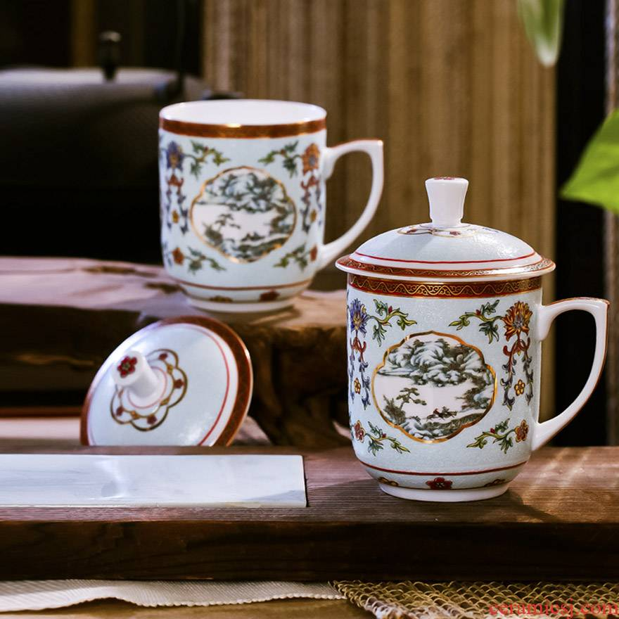 Red xin office of jingdezhen ipads porcelain enamel cup treasure palace imperial gift porcelain keller of famille rose porcelain cup