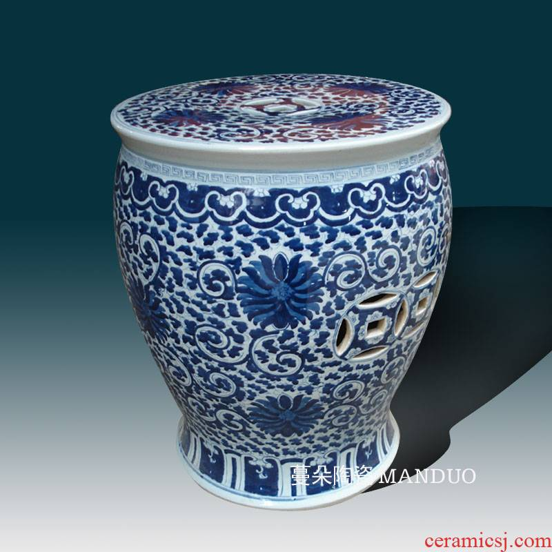 Jingdezhen porcelain who hand - made of hand - made porcelain garden porcelain who classical culture blue who