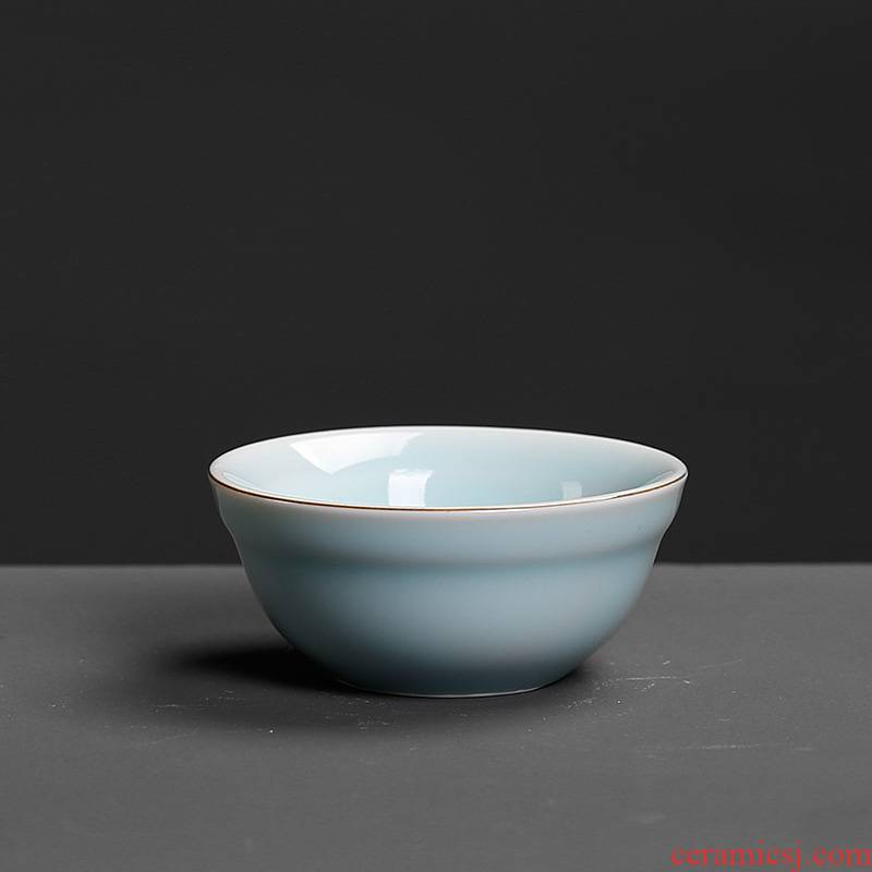 Kung fu mini single small ceramic cups are lovely goldfish archaize nostalgic retro longquan celadon single master CPU
