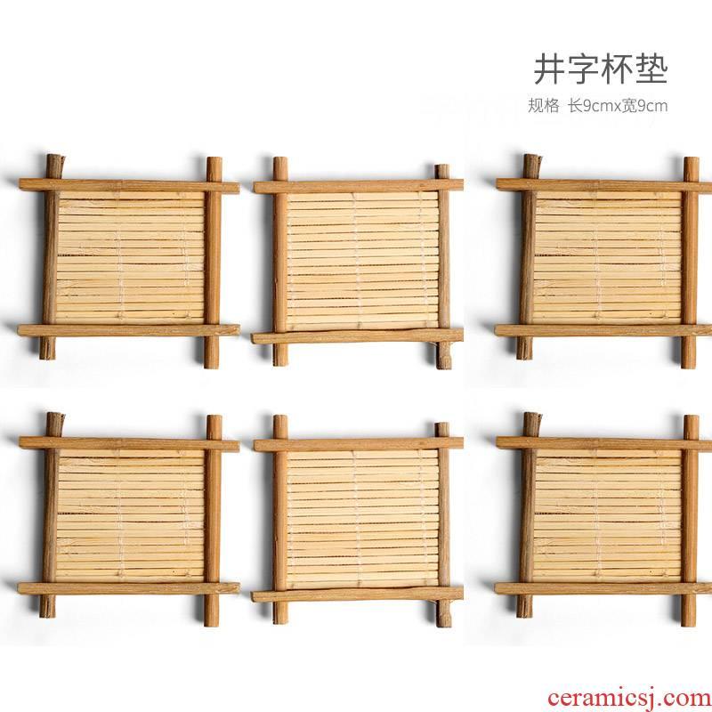 Kung fu tea accessories domestic cup holder, cup mat heat insulation pads tea tao office iron mat ceramics
