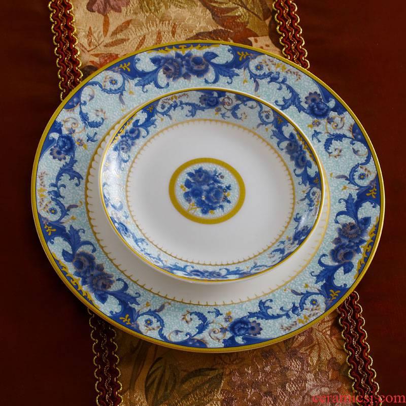 Red xin 46 46 head head/master of jingdezhen ceramic tableware design suit colored enamel tableware