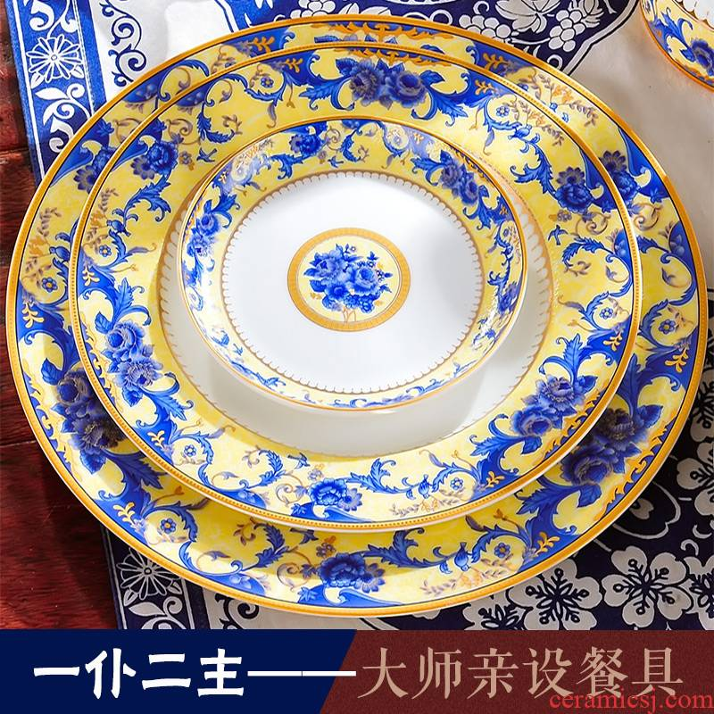28 and 56 skull head/red xin jingdezhen porcelain tableware dishes suit dish run out of European - style ceramics dining utensils