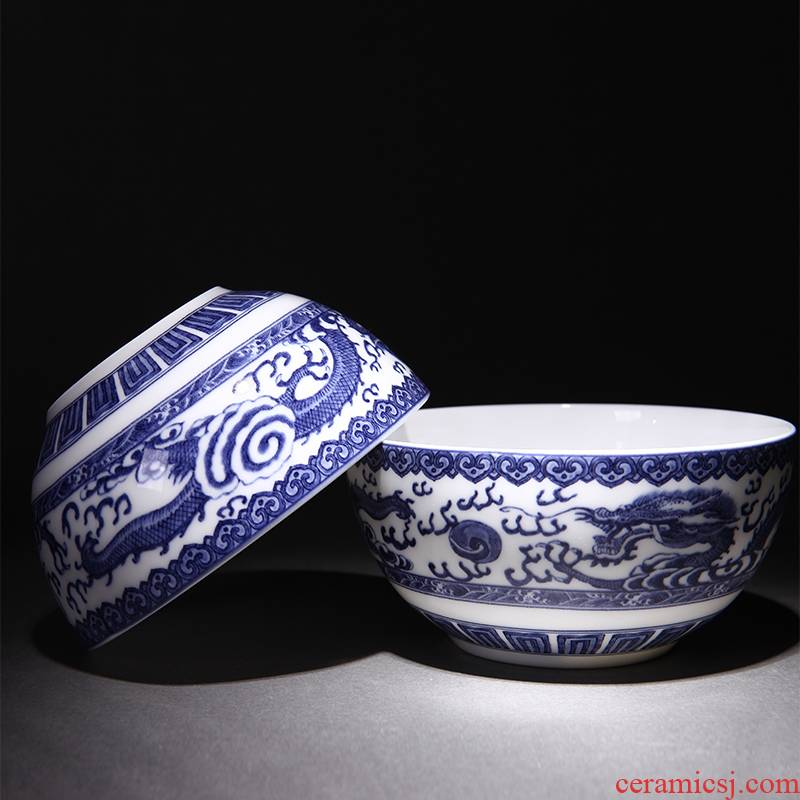 Jingdezhen porcelain ceramic bowl of 4.5/6 of an inch of household rice bowls rainbow such to use a single bowl of soup bowl under the glaze color