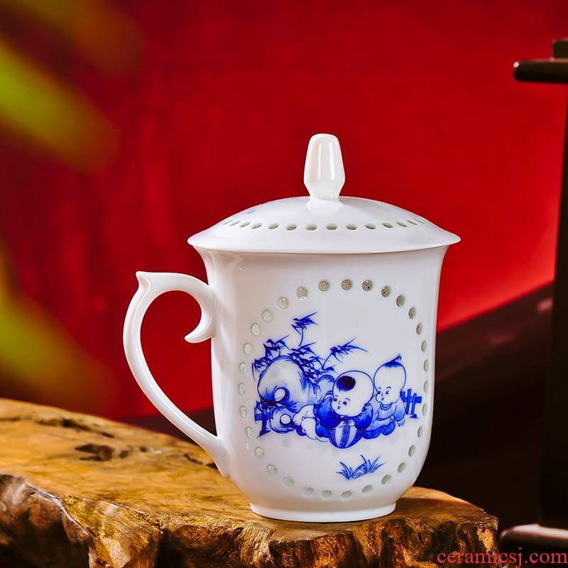 Red xin jingdezhen ceramic green office gift cups cup 2 piece gift boxes for cup baby play