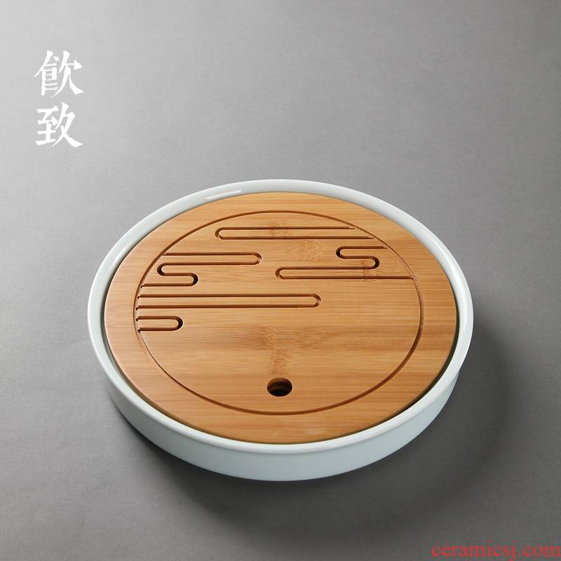 Ultimately responds to celadon water storage type embedded bamboo tea tray was dry plate of tea sets tea sea kung fu tea set supporting plate are it