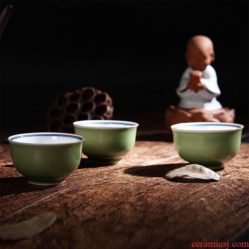 Red xin porcelain jade cup sample tea cup kung fu tea cups of jingdezhen tea service master cup attendants personal cup