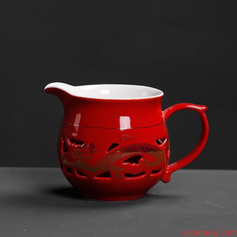 Fair keller with handle creative tea art move modern European tea tea cup household utensils accessories ceramics