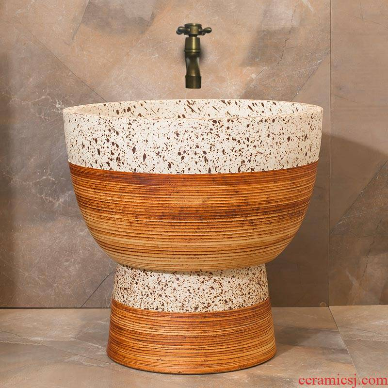 The Mop pool balcony Mop pool Chinese ceramic art basin of Mop Mop pool toilet archaize Mop pool