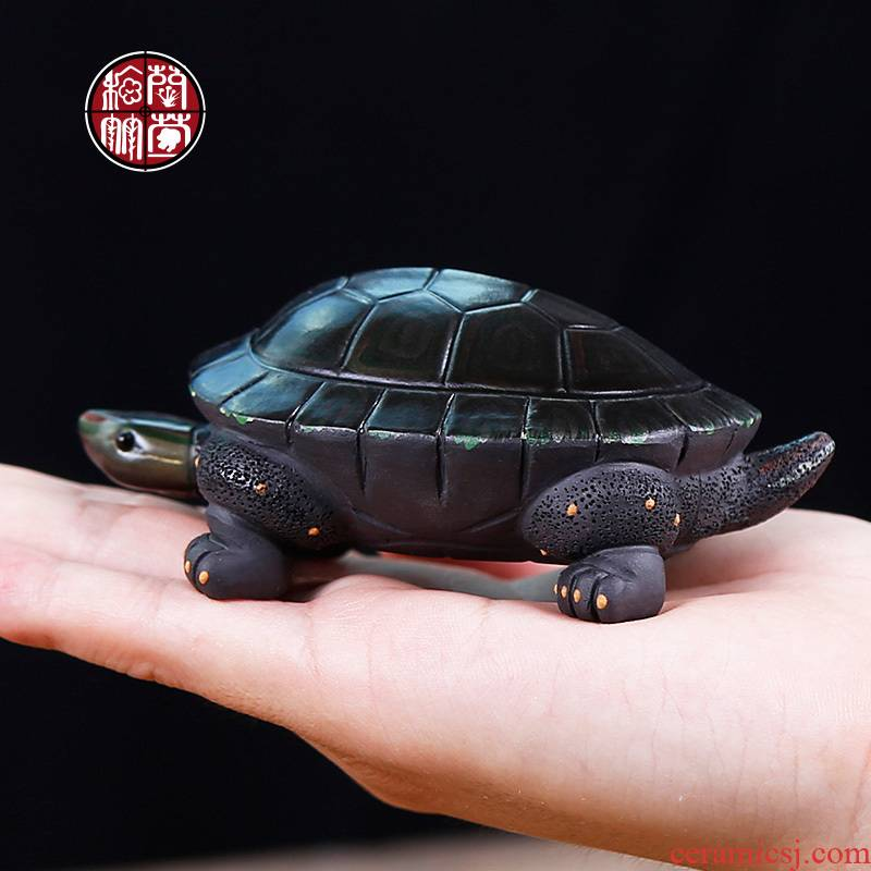 Household tea tray accessories small pet furnishing articles mini tea to keep color violet arenaceous express it in pet tortoise tea by hand