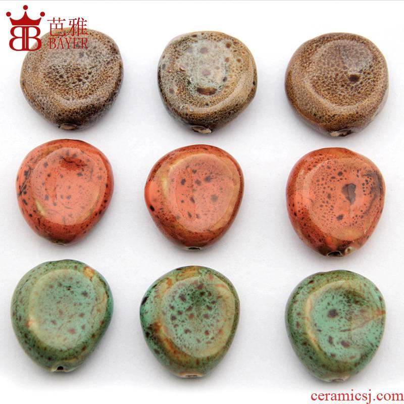 Ba jas Q of special - shaped'm ceramic accessories diy big hand to knead pie ceramic pendant pendant necklace pendant