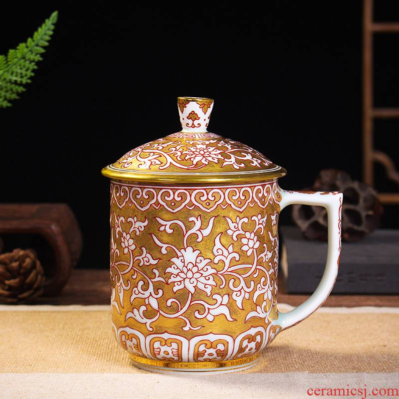 Jingdezhen ceramics hand - made paint sample tea cup kung fu tea cups office a cup of water glass