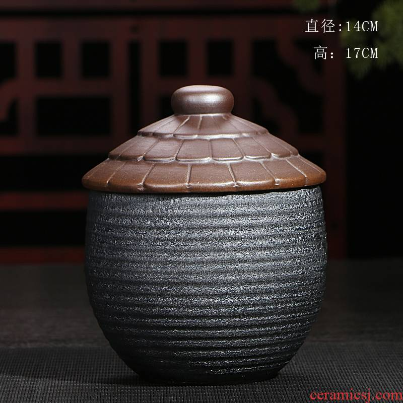 Jasmine tea pot, ceramic pot seal tank reservoir storage POTS coarse pottery tea pu 'er tea general wake tea boxes
