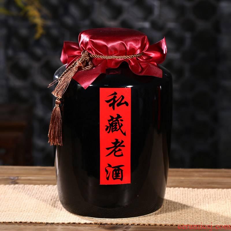 10 jins to gulp of jingdezhen ceramic wine jar mercifully whose it sealed bottle wine pot empty bottle bottle