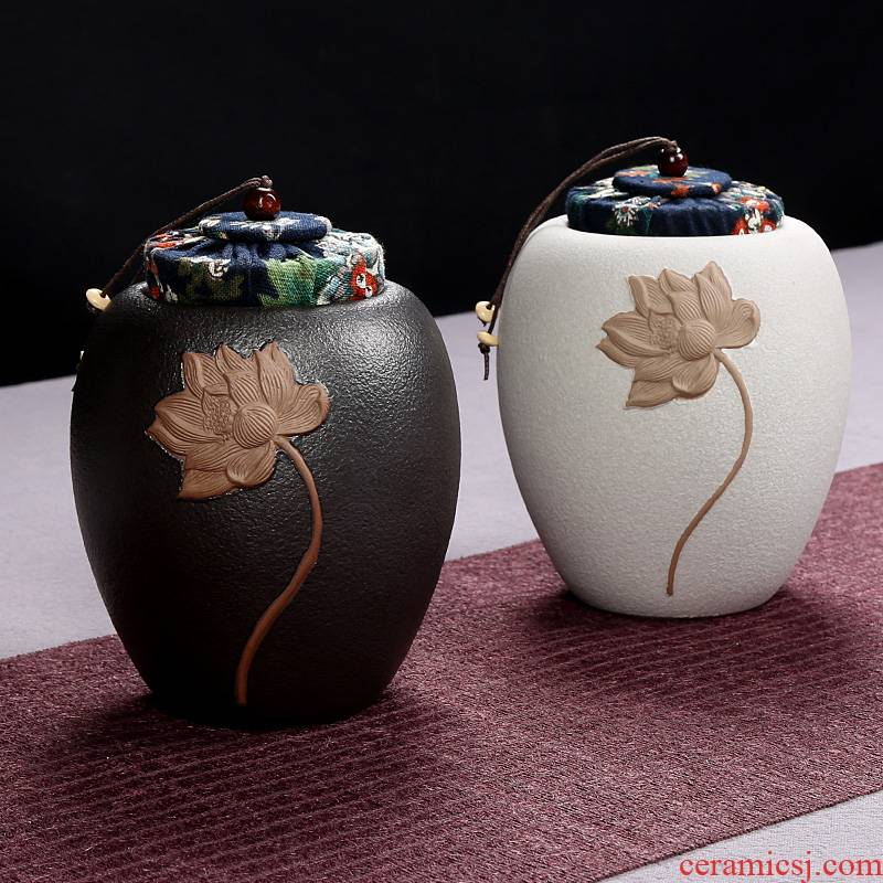 General ceramic tea pot small contracted storage tanks to restore ancient ways household seal pot portable mini travel office