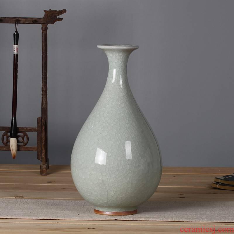 Jun porcelain antique ceramics slicing white porcelain vases, modern home sitting room adornment on the ice