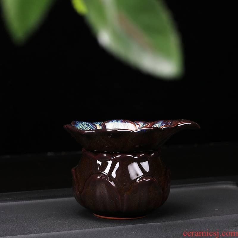 Ya xin kung fu tea tea accessories creative) tea strainer restoring ancient ways the teapot tea strainer insulation ceramic filter
