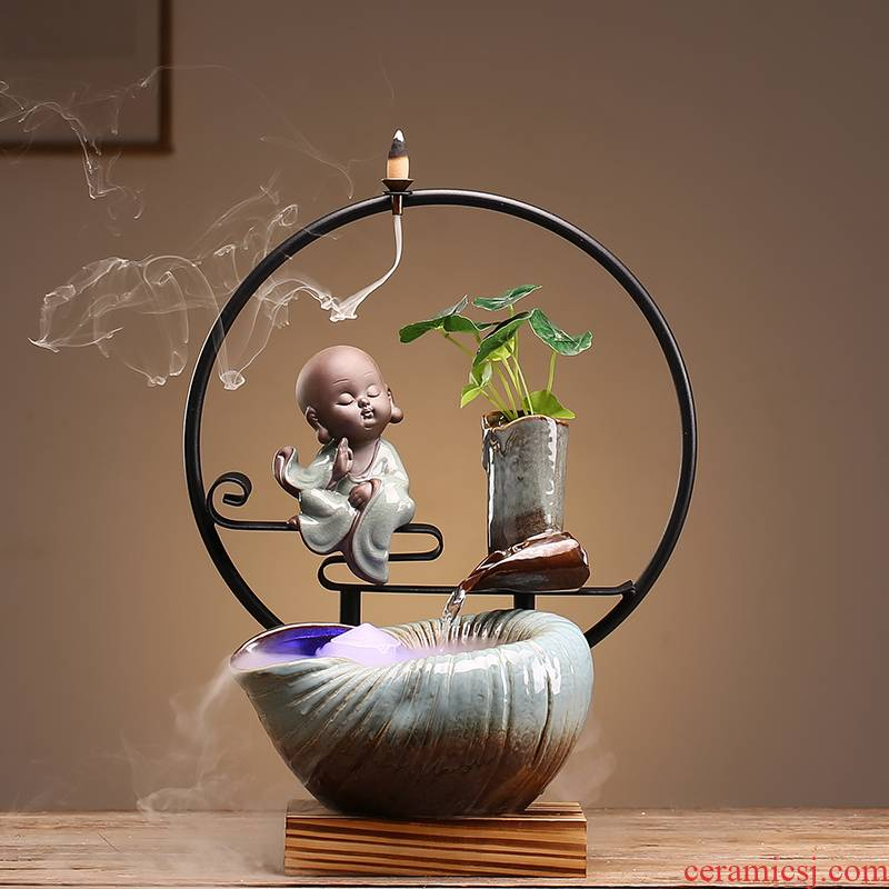 Ceramic creative living room desktop zen humidifying lucky shops and office furnishing articles water the opened a housewarming gift