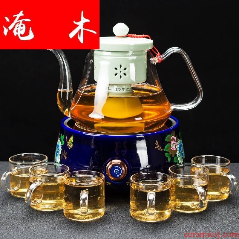 Submerged wood glass boiling kettle household black tea pu 'er tea is steaming kettle electric TaoLu boiling tea stove kettle suits for