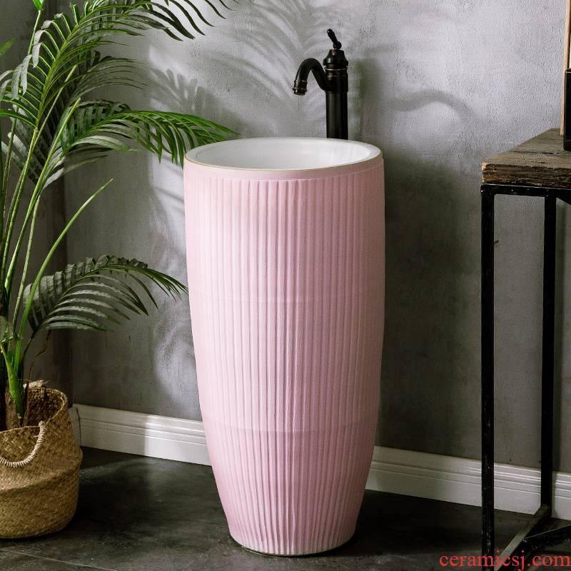 Pillar basin ceramic household toilet lavabo art one balcony the pool that wash a face villa floor type lavatory