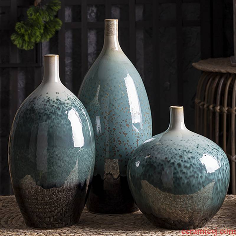 Chinese creative ceramic vase furnishing articles living room table suit household soft adornment zen simulation flower arranging flowers