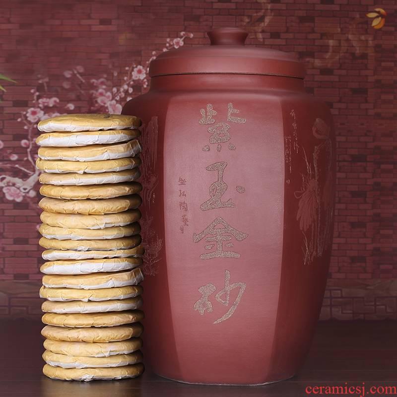 Qiao mu JS yixing purple sand tea pot oversized puer tea crude TaoCun cylinder tank large - sized ceramic pot