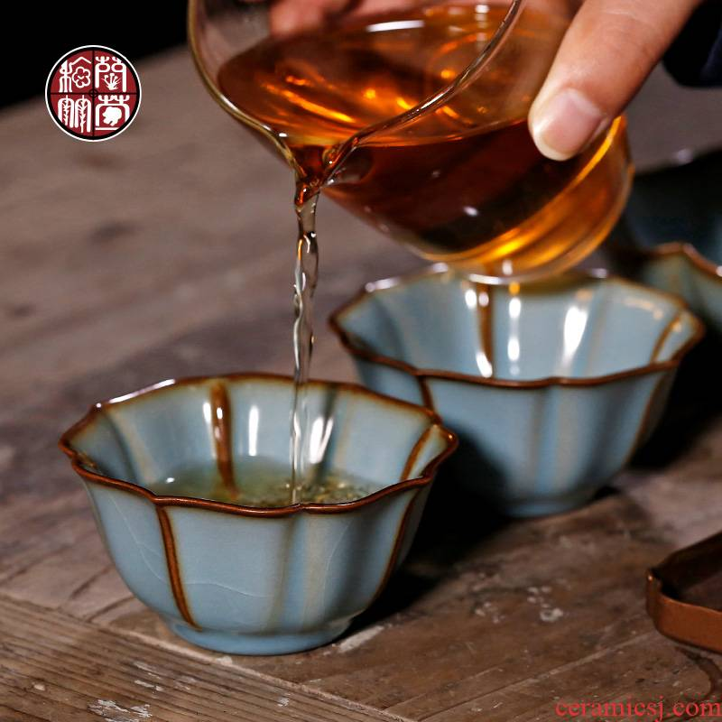 By patterns your up small single open cups can raise archaize master cup ceramic kunfu tea cup personal cup