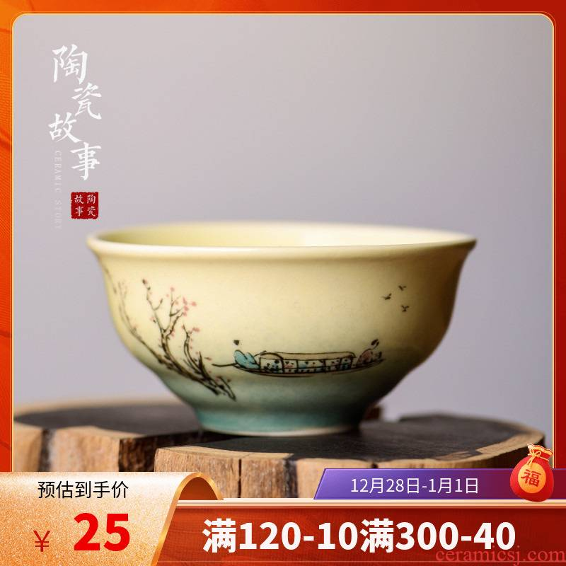 The Story of pottery and porcelain cups for jingdezhen ceramic masters cup Japanese kung fu tea tea set small sample tea cup