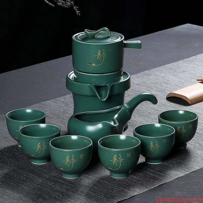 Fit the semi - automatic tea set tea household contracted lazy automatic ceramic tea set gift box set