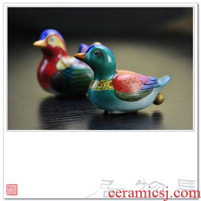 Offered home - cooked at taste pure hand - made enamel paint snuff bottle of yuanyang jingdezhen archaize ceramic ya play by hand