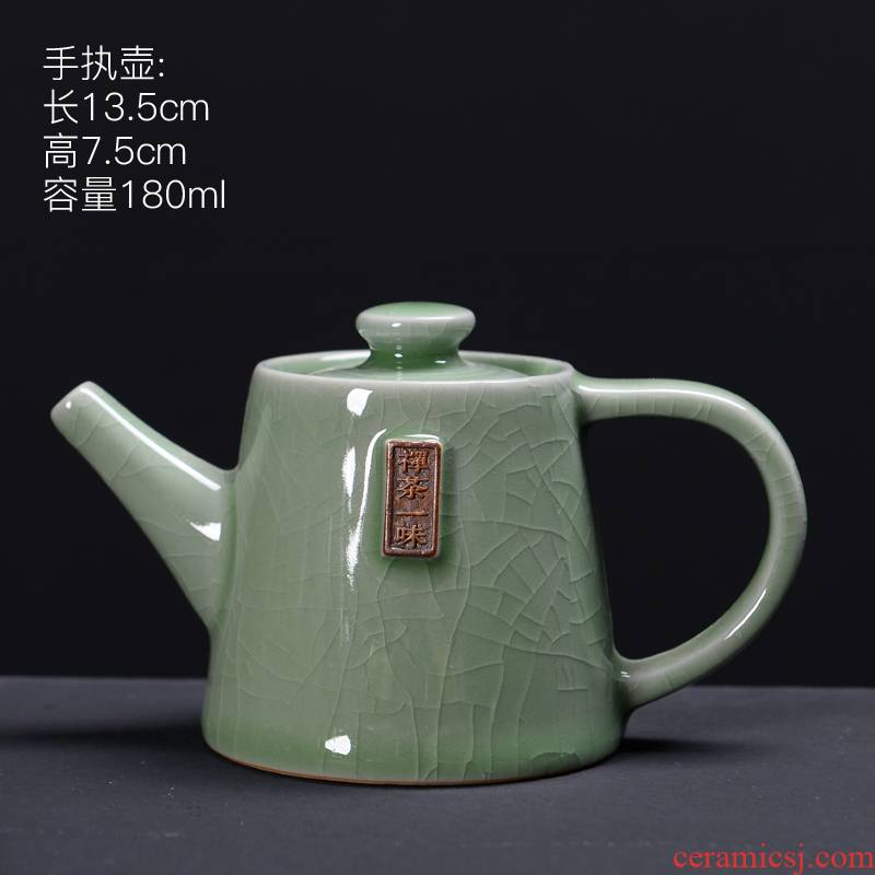 Cup suit the elder brother of the ceramic up household contracted bowl with ice crack glaze open a piece of a complete set of your up kung fu tea teapot